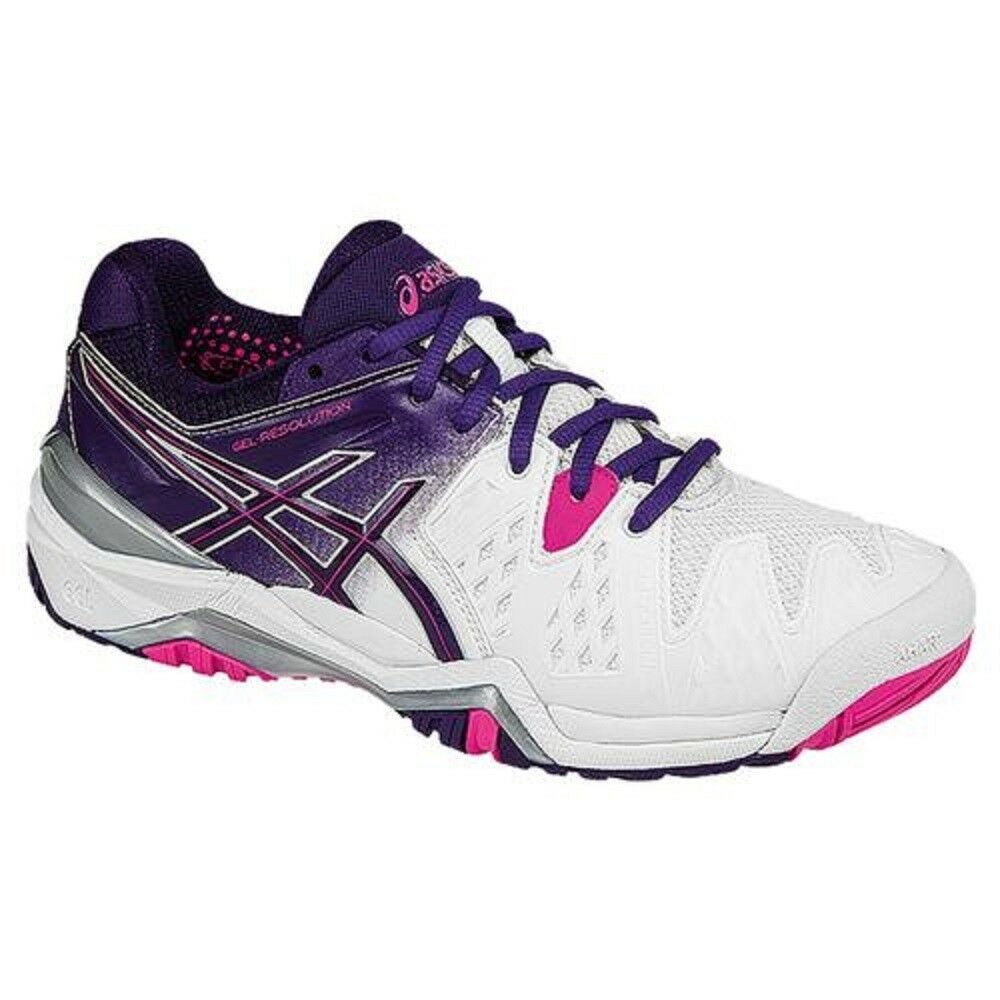 NEW WOMEN'S ASICS GEL-RESOLUTION 6 (0133  WHITE PARACHUTE) TENNIS SHOES. SZ 5.5