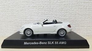 1-64-Kyosho-MERCEDES-BENZ-SLK-55-AMG-WHITE-diecast-car-model