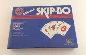 Vintage 1986 Skip-Bo Deluxe NEW SEALED OLD STOCK RARE