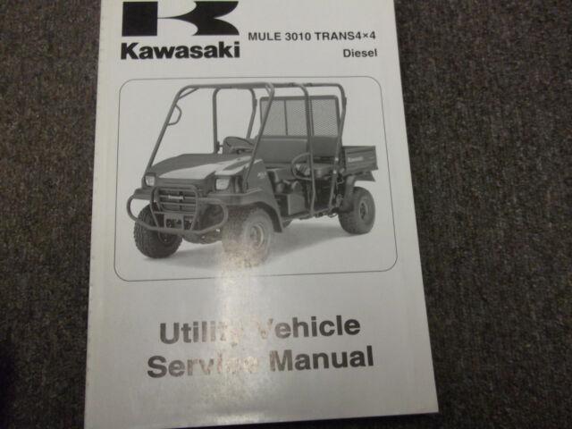 2008 Kawasaki Mule 3010 Trans 4x4 Diesel Utility Service