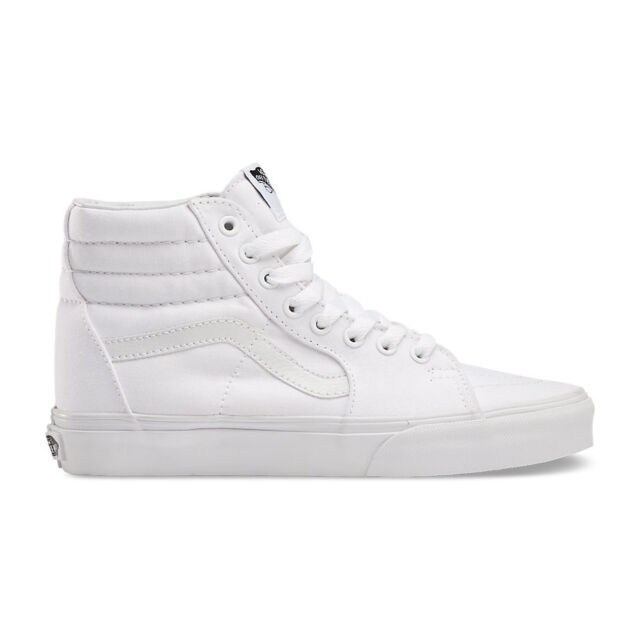 all white high vans