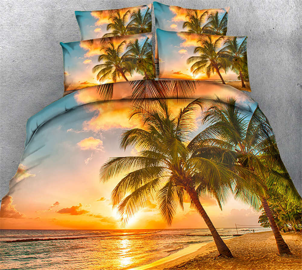 Coloreeized Sunset 3D Printing Duvet Quilt Doona Covers Pillow Case Bedding Sets