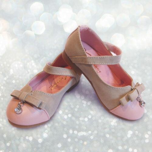 Girls sparkle pink princess elegant mary jane ankle strap shoes 12-30 months