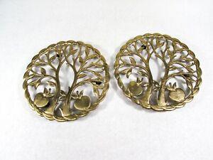 Vintage-Brass-Apple-Tree-Trivets-Set-of-2