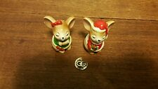 Vintage Christmas Mice Salt and Pepper Shakers