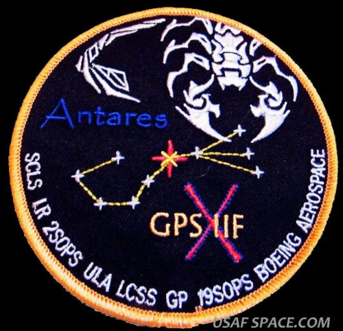 GPS IIF-10 ANTARES ATLAS V ULA BOEING LCSS USAF SATELLITE Mission SPACE PATCH