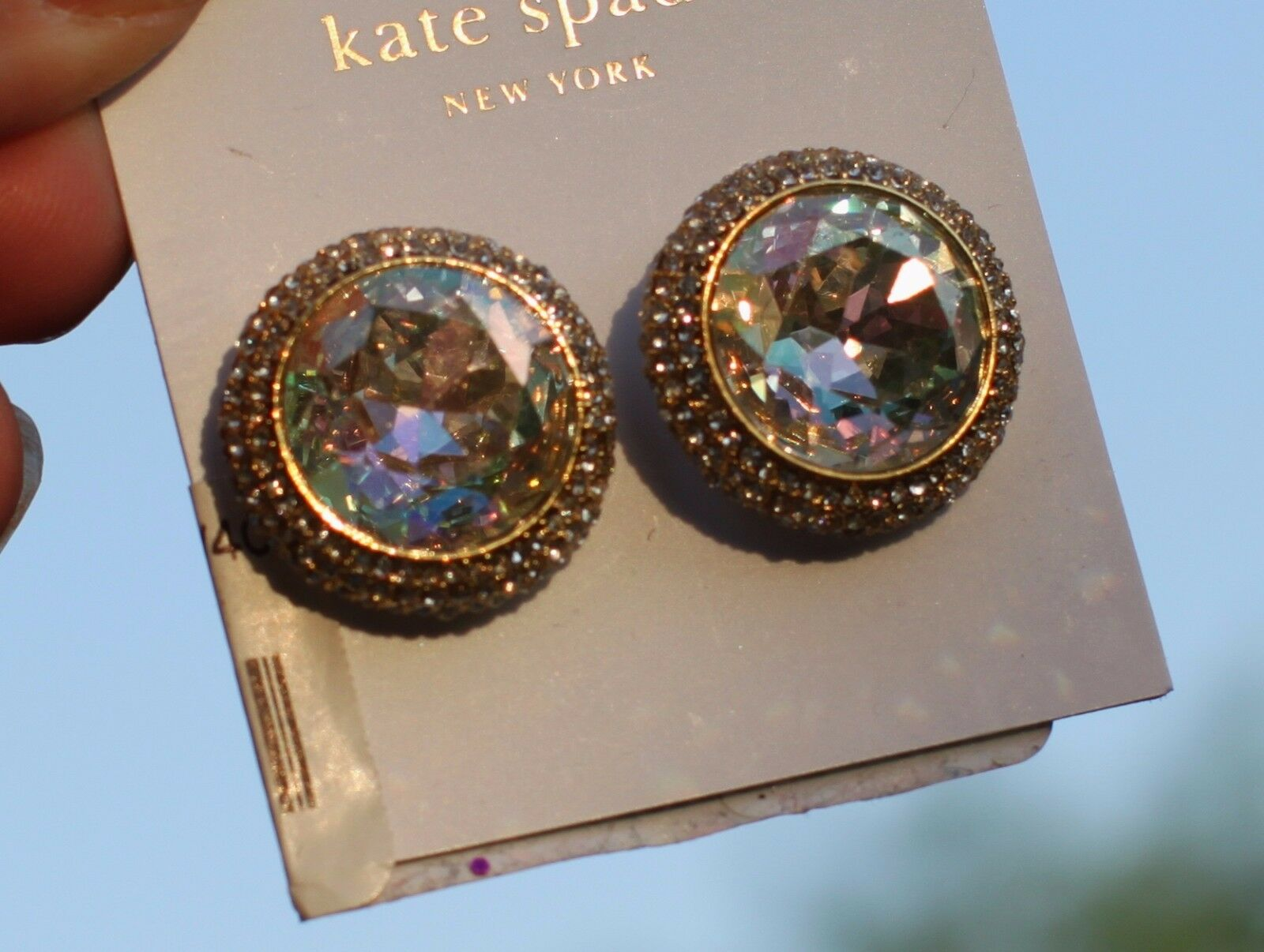 f0ba550a4 Kate Spade Absolute Sparkle Large Crystal Round Stud Earrings #238 ...