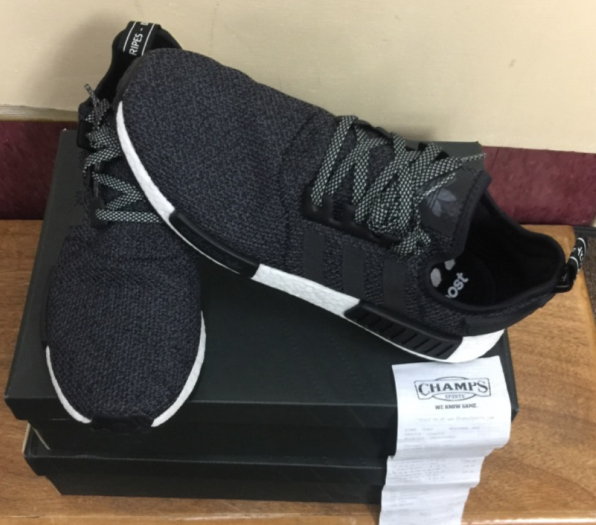 Adidas NMD_R1 3M Black Grey Champs Exclusive B39505 Size 9.512 AUTHENTIC
