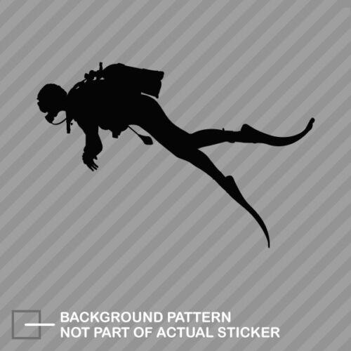 Scuba Diver Sticker Die Cut Decal dive diving
