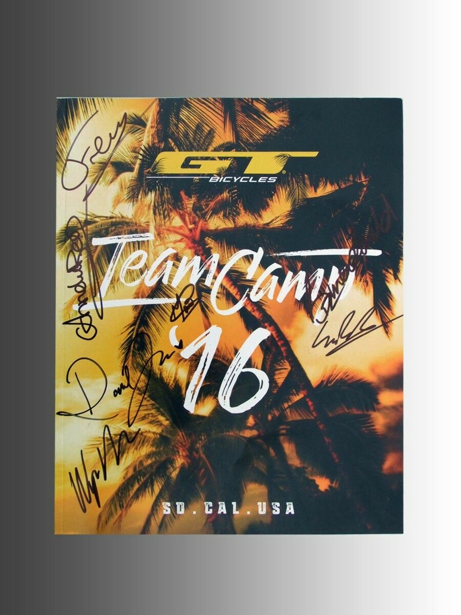 Collectable 2016 GT Bicycle Team Camp Program Book W Team Members Signatures