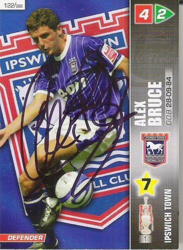 A Panini 2008 card. Personally signed by Alex Bruce of Ipswich Town.