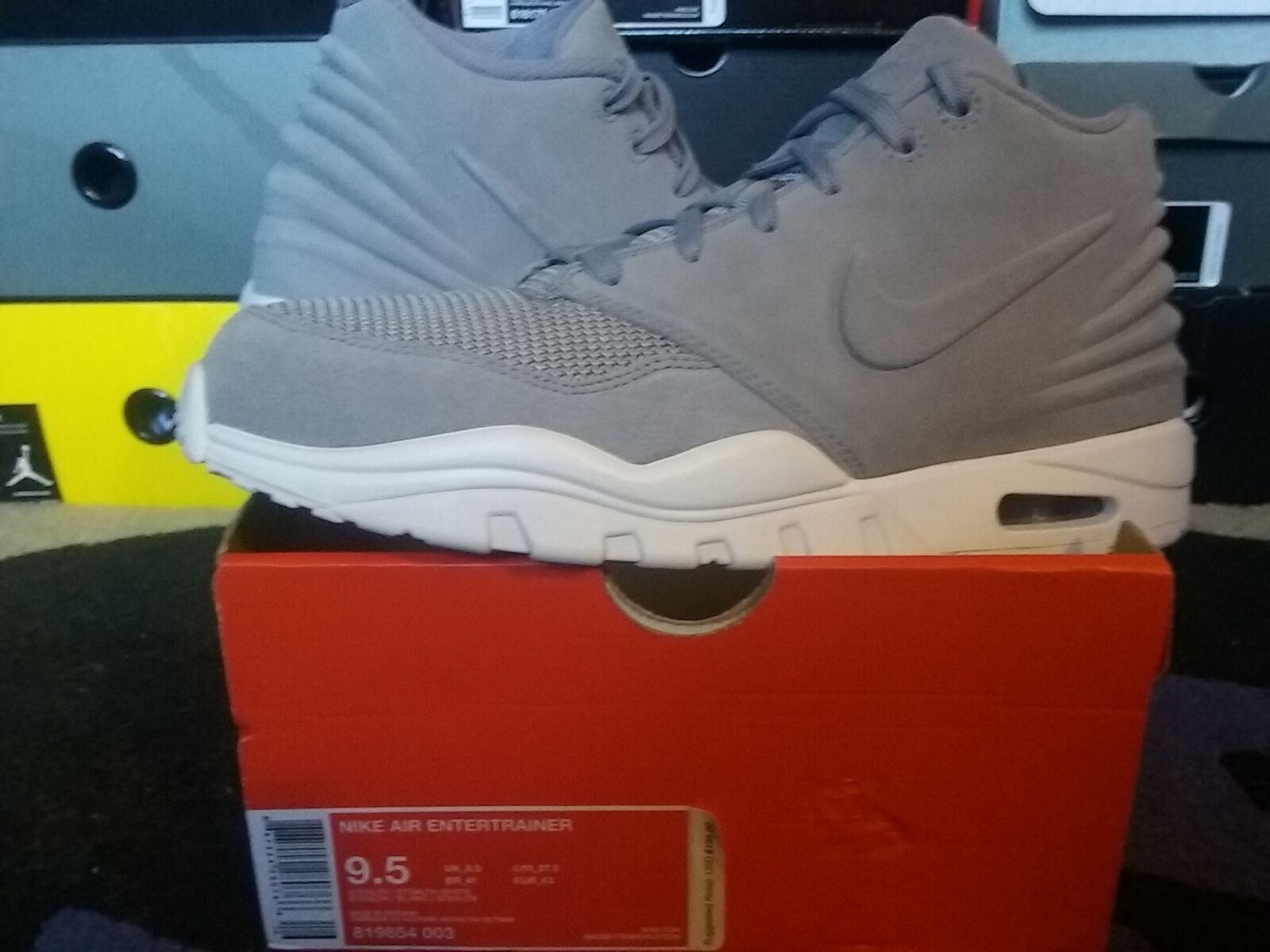 Nike Air Max Zoom Entertrainer Suede Stealth Grey White trainer sc 1 819854 003