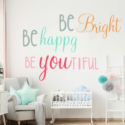 Removable Decal Letter Positive Quotes Wall Stickers Vinyl Decal Room Home Decor