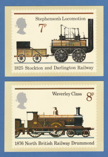 BRITISH POST OFFICE EXTREMELY RARE SET OF 4 PHQ CARDS NO. 12 TRAINS 1975