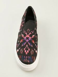 Marcelo-Burlon-County-Of-Milan-Black-Cotton-Printed-Slip-On-Sneakers-EU44-US10-5