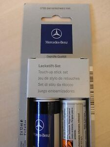 Genuine mercedes touch up paint stick diamond black for Mercedes benz touch up paint