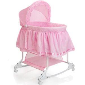 Babywiege-Stubenwagen-Schaukel-Baby-Stuben-Bett-Bettchen-Beistellbett-Kinder