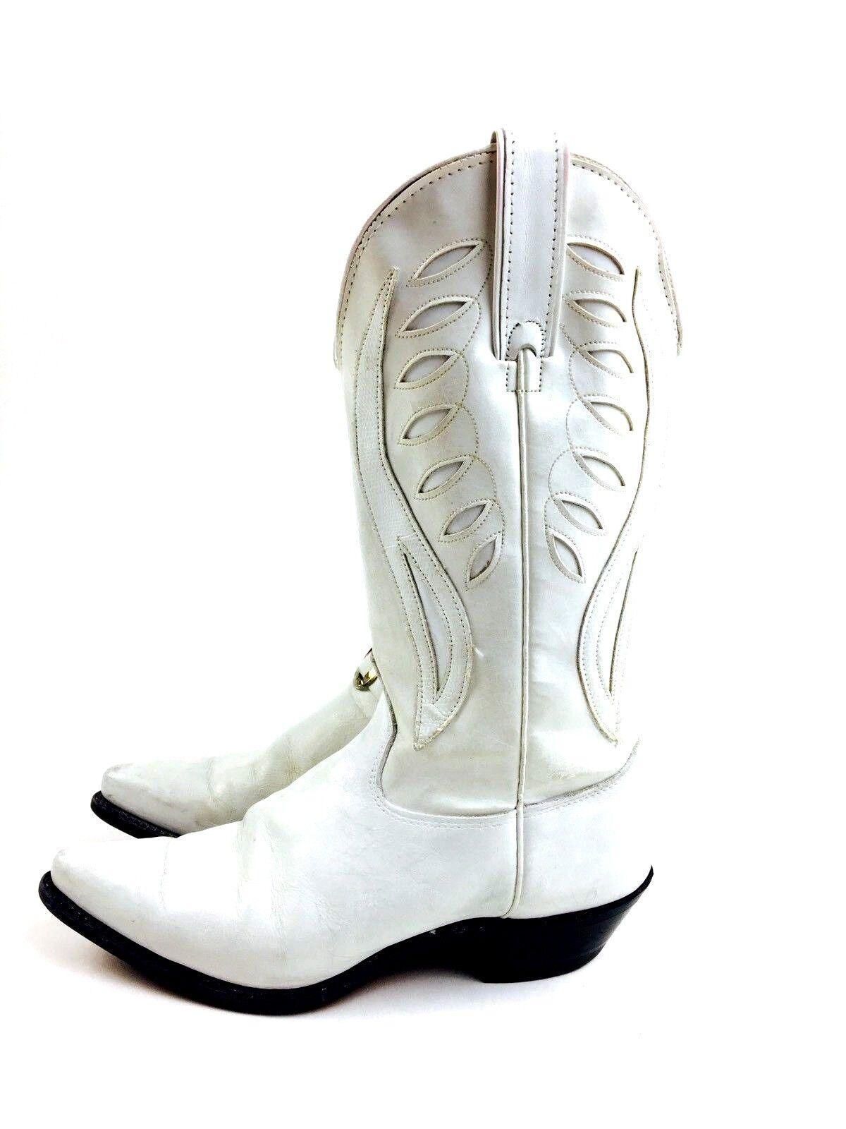White Cowboy Boots Women's Shoes Women's Boots He… - image 5