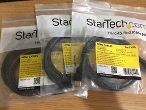 3x Startech.com 1 M Haute Vitesse Câble Hdmi Avec Ethernet Ultra Hd 4k X 2k Hdmm 1mhs-afficher Le Titre D'origine Quell Summer Soif
