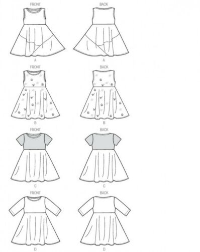 McCalls Childrens Easy Sewing Pattern 6915 Pullover Jersey ... Free UK P/&P