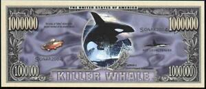 KILLER WHALE 💶🐳 One Million Fantasy Note 🐳💶 BUY MORE 🐳 SAVE MORE 💲