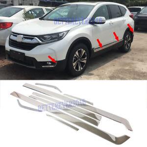 Car Side Door Line Decoration Molding Stainless Steel Fit For Honda CRV 2007