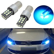 2 Error Free Ice Blue Led Bulbs Fit For Mk6 Volkswagen Jetta Daytime Drl Lights