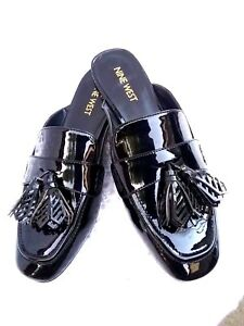 Nine West Xenisa Womens Black Patent Leather Penny Loafer ...