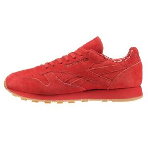 392dcee862c REEBOK CLASSIC LEATHER PAISLEY PACK - SCARLET RED GUM - BD3231 - UK ...