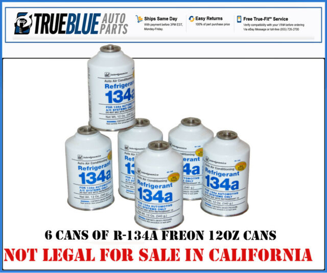 Interdynamics R134a CAN134A-6 Automobile Refrigerant (Quantity Of 6 Cans 12oz)