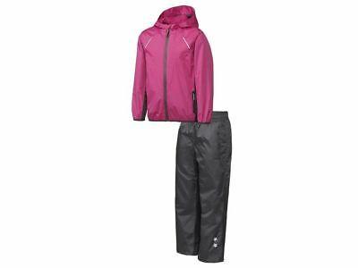 Zielstrebig Mädchen Kind Regenanzug Matschanzug Regenjacke Windjacke Regenhose Pink 158/164x Diversifiziert In Der Verpackung