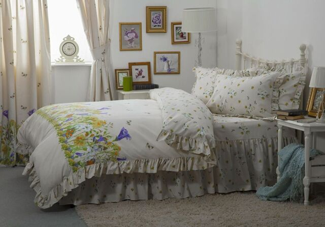 Fl Bed Linen Polycotton, Laura Ashley Bluebell Bedding
