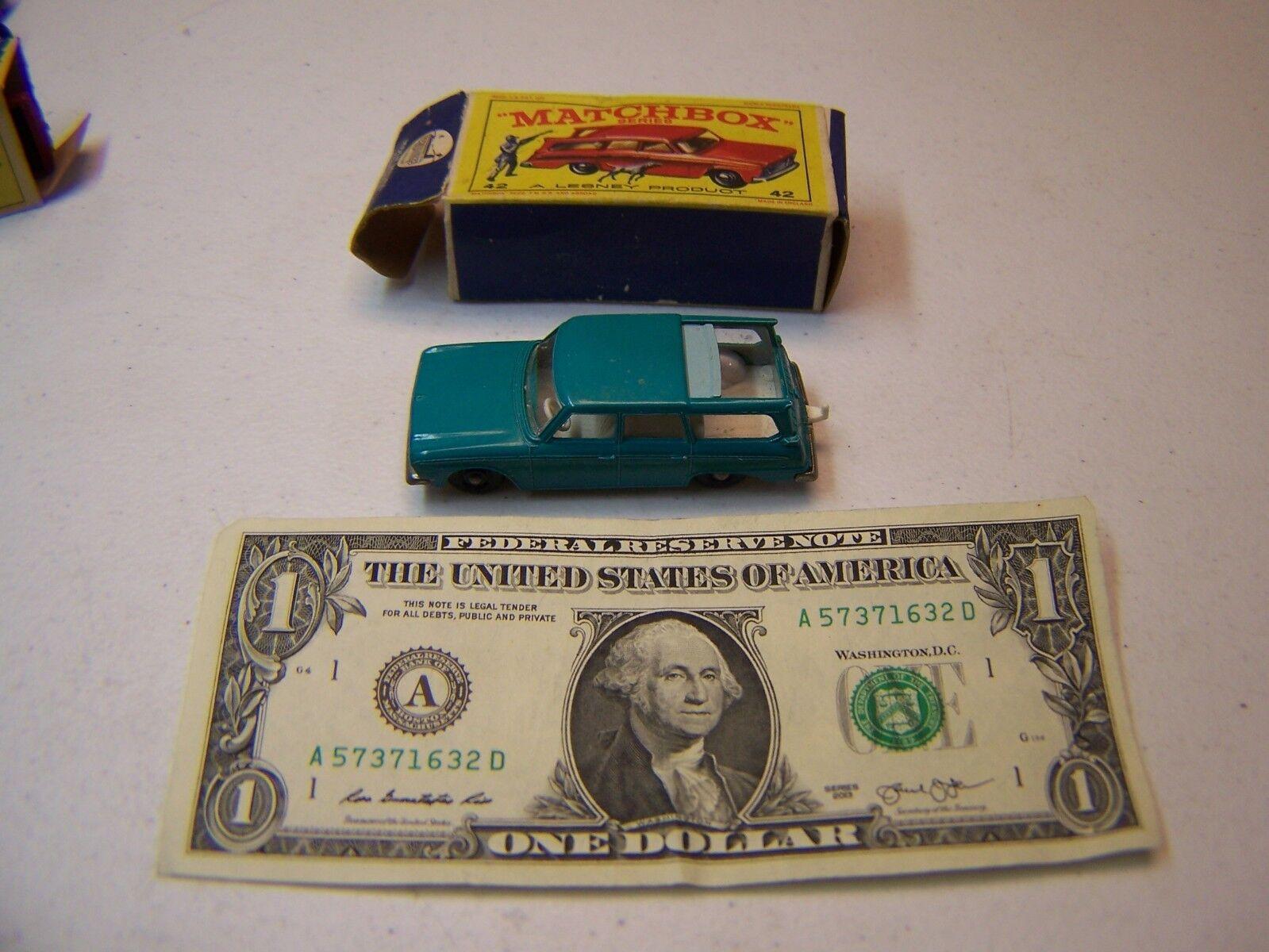 Matchbox Lesney-Vintage Diecast verde Azulado Studebaker Station Wagon  42