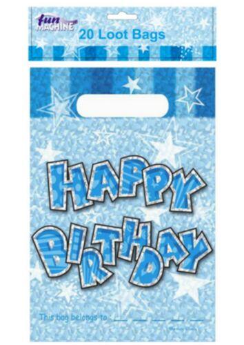 Boys Free p+p 20 Loot Bags Girls Happy Birthday Loot Bags