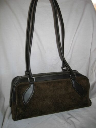 Cuir Tbeg Vintage Auth Main À En Et Sac Magnifique Bag Daim Coccinelle wxzqfP7