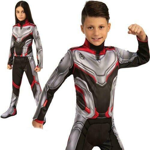 Official Marvel Avengers Team Suit Costume - Fancy Dress For Book Week Unisex