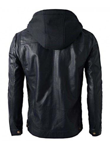 vᄄᆭritable ᄄᄂ Veste capuche en cuir de hommes Brando pour style uTK1JFlc3