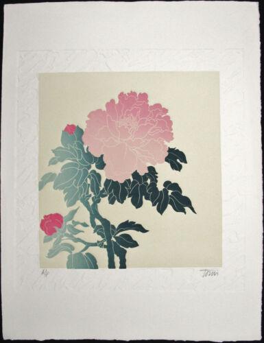 Fernando TORM, Original Embossed Etching, Floral Series, Signed Artist's Proof