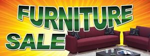 3ft x 8ft Furniture Sale (grn) Vinyl Banner -Alt to Banner Flag 3'x8' (0093)