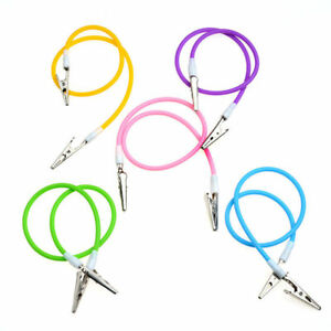 1x-Dental-Bib-Clip-Chain-with-Silicone-Cord-Spring-Heat-Resisting-Colorful-NEW