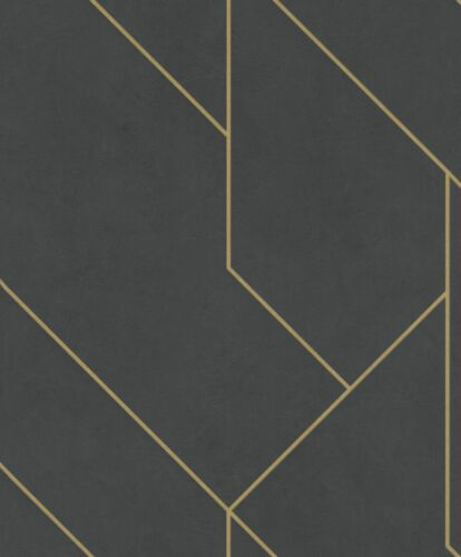 Rasch Tapete Brick Lane 427431 Fliese graphisch gold anthrazit Vliestapete