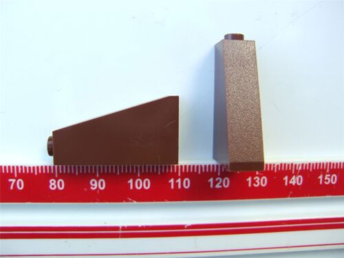 4270470 2 x Lego Brown ROOF TILE 1X2X3//73 degrees Parts /& Pieces