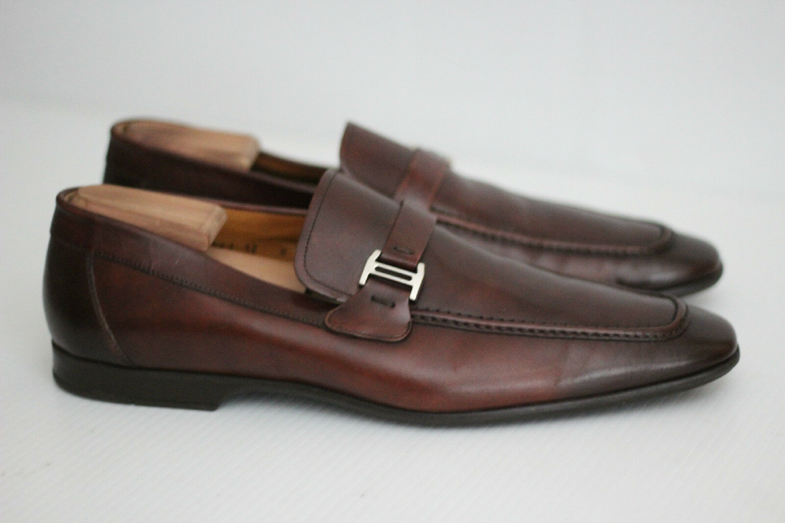 Magnanni 'Lino' Loafer shoes Slip On - Brown - Size 12 M - 15061 (T58)
