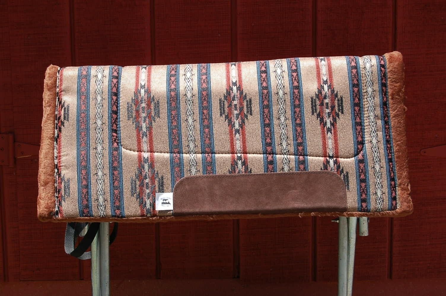 RIDERS CHOICE SADDLE PAD POTTERY BROWN FREE SHIP BLANKET NEW 32  MADE IN ALABAMA