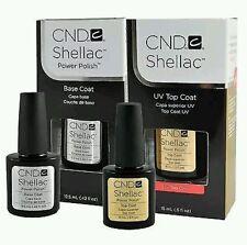 CND Shellac UV Smalto - Top Coat - Base Coat Grandi - 15 ml + 12,5 ml.