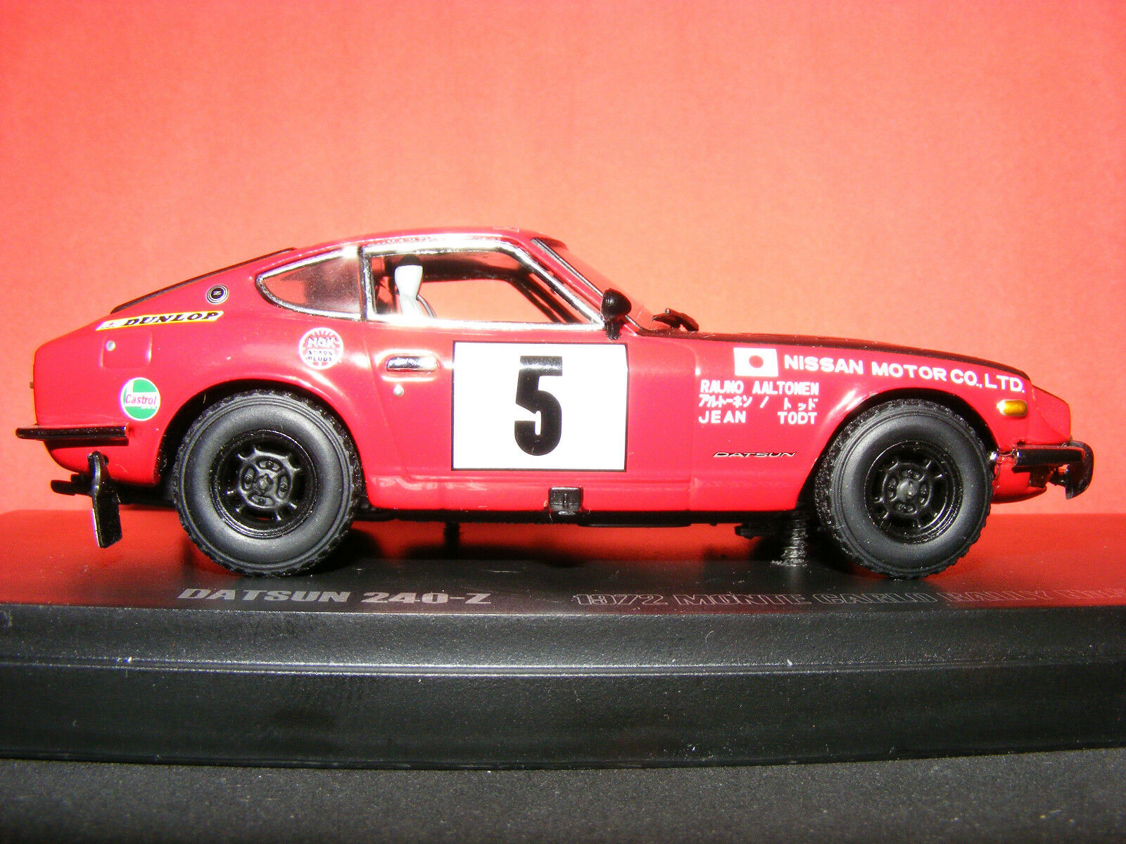 DATSUN 240-Z MONTE voitureLO  Rare Kyosho 1972 RALLYE 'MUSEUM COLLECTION' 1 43 NLA  marques de créateurs bon marché