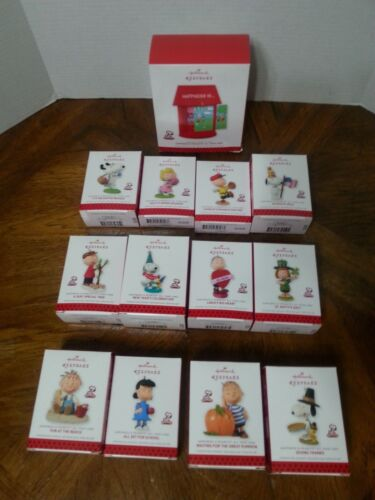 HAPPINESS IS PEANUTS 12 Months of Fun HALLMARK Ornaments *YOU PICK*
