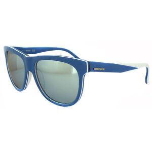 585bc1899c798 Diesel Sunglasses DL0112 86C Blue   White Grey Mirror