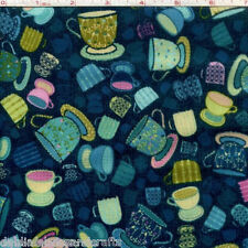 Hoffman Fabrics Tiana Tea Cups Tea Party Cotton Quilt Fabric By The Yard