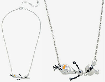Disney Frozen Olaf Pendant Necklace On Chain Or Cord Gift  All Ages 2 Styles